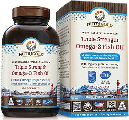 Nutrigold Triple Strength Omega-3 Gold Fish Oil