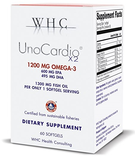 WHC UnoCardio X2 Fish Oil Supplement